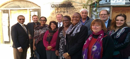 The World Council of Churches Pilgrimage of Justice and peace delegation visited the Centre for Jerusalem Studies in the Old City